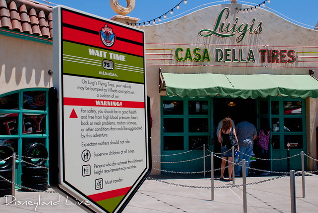Luigi's Flying Tires - Cars Land