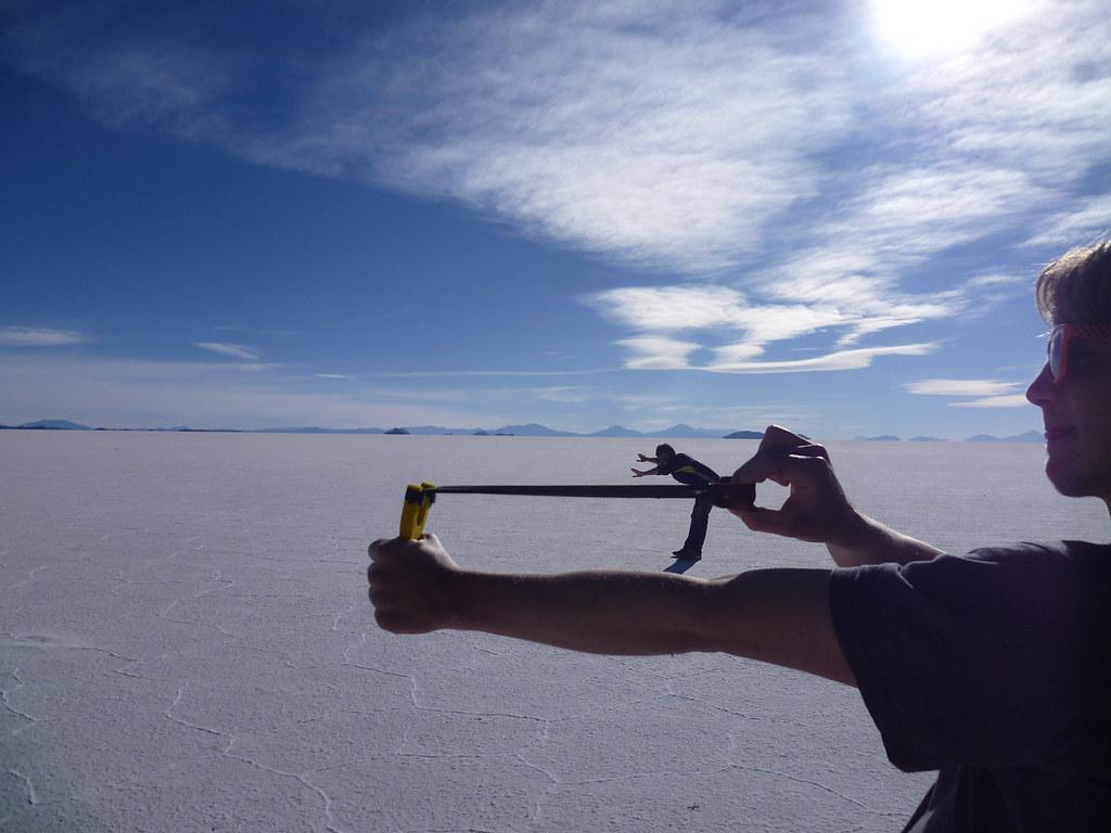 Effet d'optique au Salar d'Uyuni