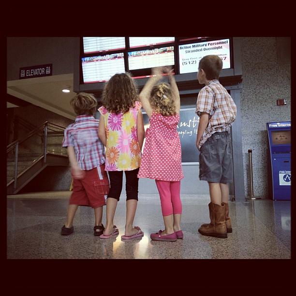 """which flight is grandma on?"""
