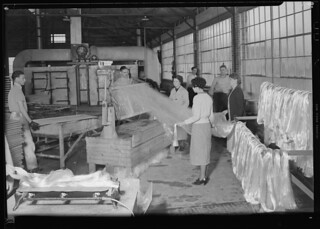 Glass wool. Frederick and Dimmock Co. The second shot of the process, March 1937