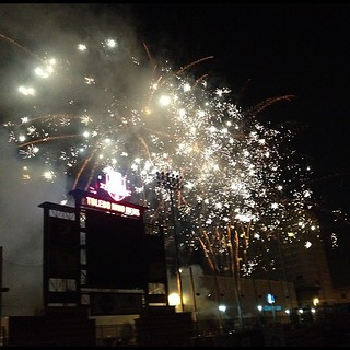 Fun night filled with dinner with friends, Mud Hens game, and ended with fireworks!