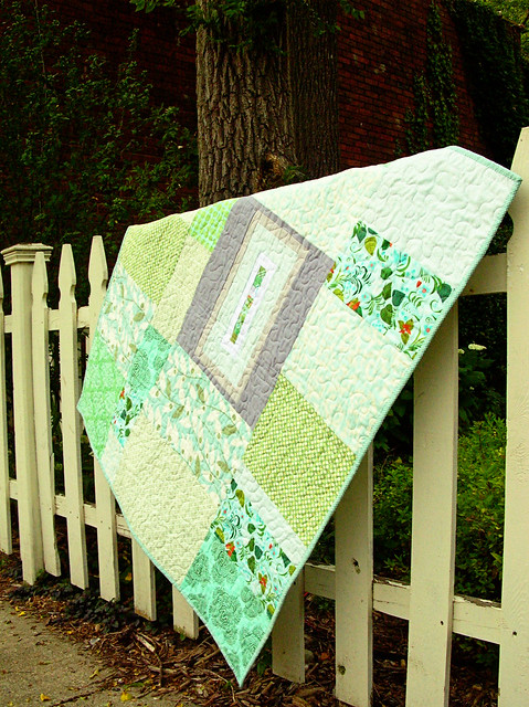 baby steps quilt back