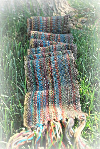 Linen stitch man scarf