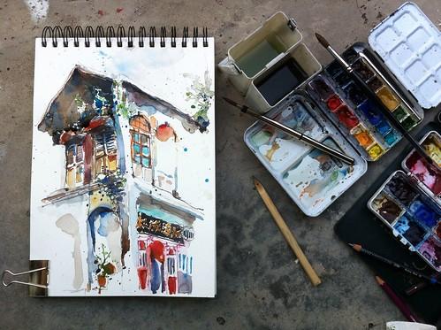 Sketching Georgetown Penang