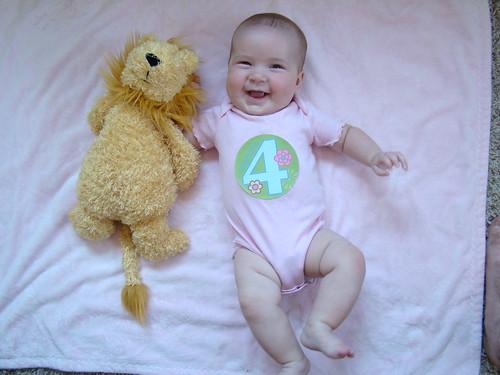 Lainey, four months