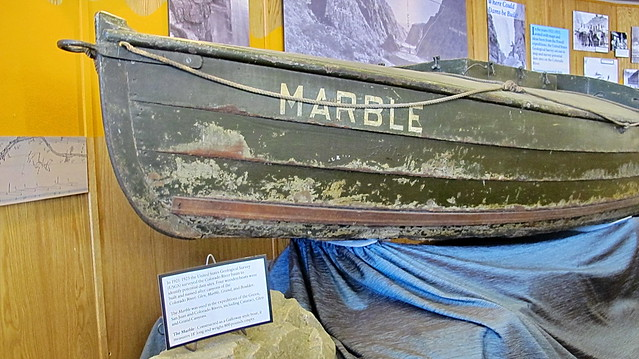 Marble - USGS Survey Boat 1921-1923 - Glen Canyon Dam Visitor Center Exhibit