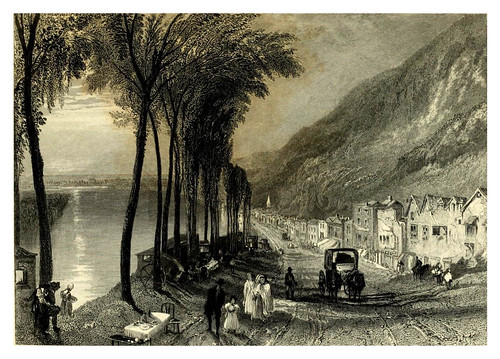 020-Vista del Sena entre Mantes y Vernon-Wanderings by the Seine from Rouen to the source 1835- Joseph Mallord W.Turner