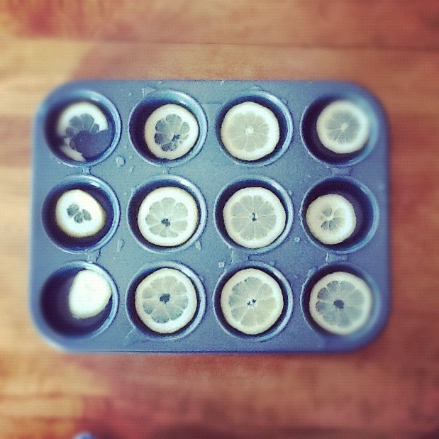muffin tin ice cubes