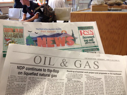 "Fort Nelson News' business section just called ""Oil and Gas"""