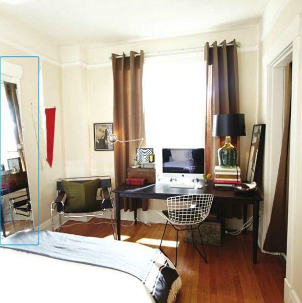 diseo de oficina en casa para dos personas la alfombra y puertas negras hace contraste con la decoracin blanca escritorio