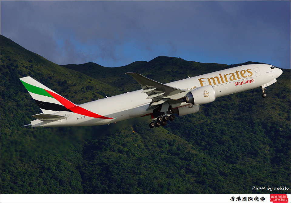 Emirates SkyCargo / A6-EFG / Hong Kong International Airport