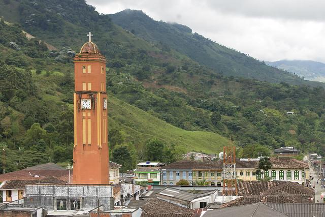 Imagen de la Plaza Bolívar de Pijao, Quindio