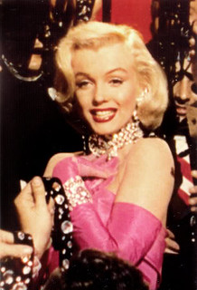 a photo of Marilyn Monroe wearing diamonds