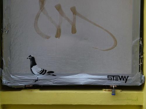 Stewy Stencil, Flibbertigibbet , George St, Hastings Old Town by HastingsPeetArt