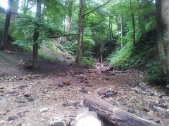 Repairing Nutclough after the summer flash flooding.