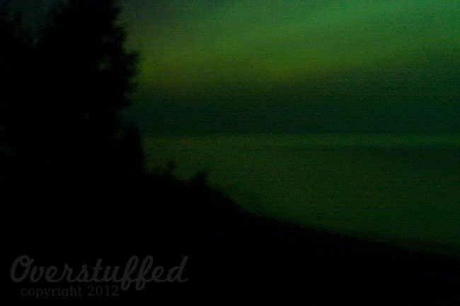 Northern Lights over Lake Superior