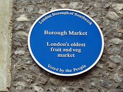 Photo of Borough Market blue plaque