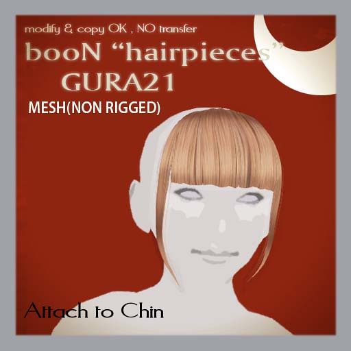 booN GURA21 hairpieces