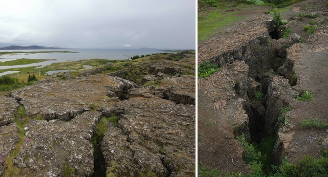 Fissures at Thingvellir