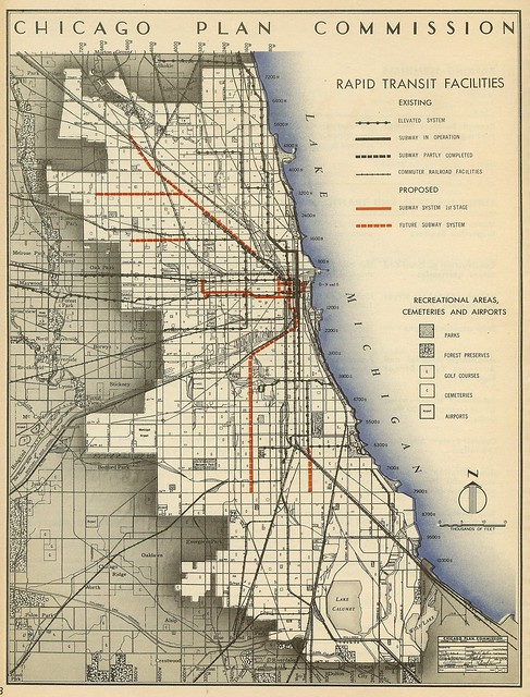 Chicago Plan Commission: Rapid Transit Facilities (1945)
