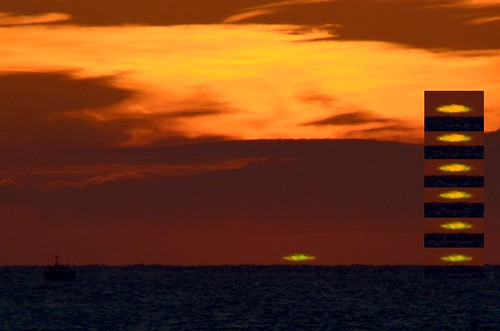 sunset sun soleil couchant greenray cotentin greenflash rayonvert 180mmf28 denneville hr7 d7000