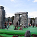 A bouncy castle version of Stonehenge, an artwork called Sacrilege, is a free 2012 Games ride touring UK