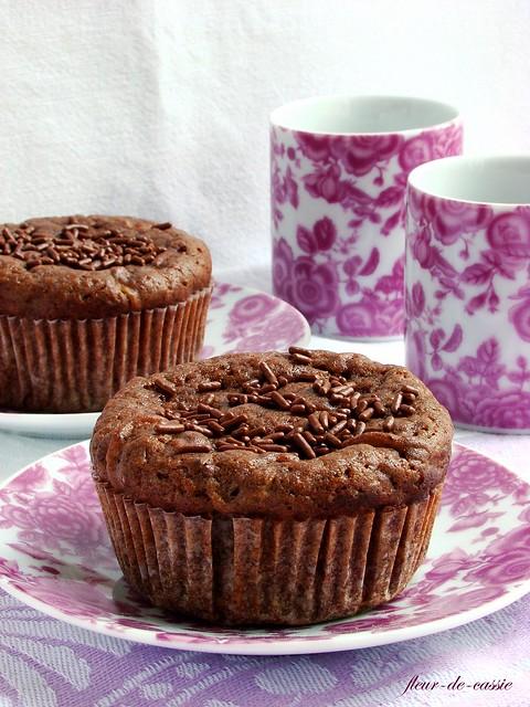 шоколадные маффины с цуккини 2