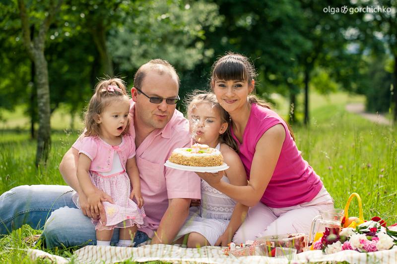 Летняя семейная фотосессия