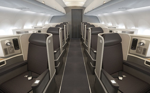 American Airlines A321 transcon first class