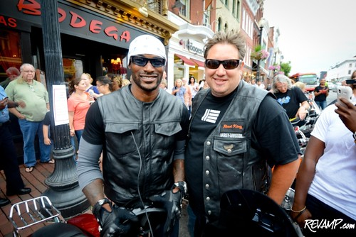 Actor/model Tyson Beckford and Rogue 24 Chef R.J. Cooper. REVAMP/DANIEL SWARTZ