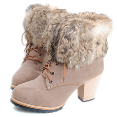 outdoor shoe(0.0), leather(0.0), limb(0.0), leg(0.0), human body(0.0), snow boot(1.0), textile(1.0), fur(1.0), brown(1.0), footwear(1.0), shoe(1.0), khaki(1.0), beige(1.0), boot(1.0),