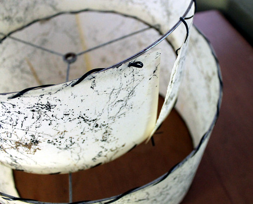 broken fiberglass lampshade lacing by vitaminihandmade