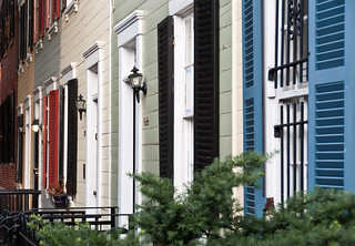 row houses in Georgetown (by: Ruth Flicker, creative commons)