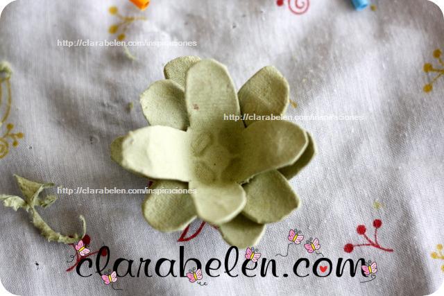 Como hacer flor de loto embalaje o cartones de huevo