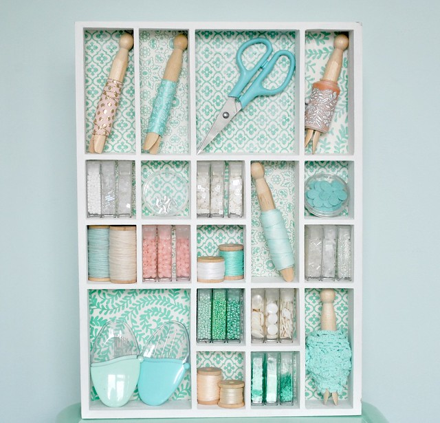 Filled mini shelves