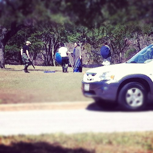 @&$#%!! LARPing at my neighborhood park. Time to get out of here.