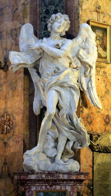 Sant Andrea delle Frate Ángel con la cartela de Bernini