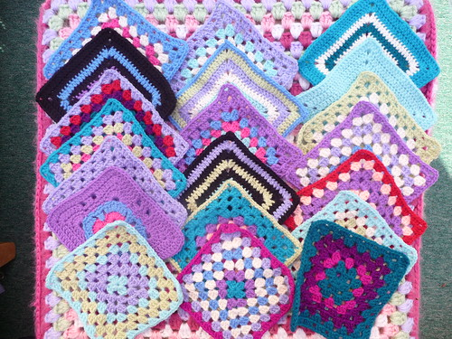 Squares of all patterns and colours!