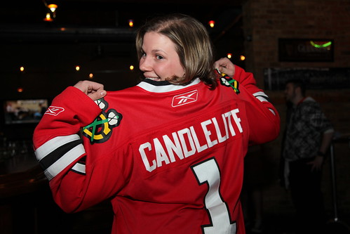 One of our biggest fans, and a huge Chicago Blackhawks fan!