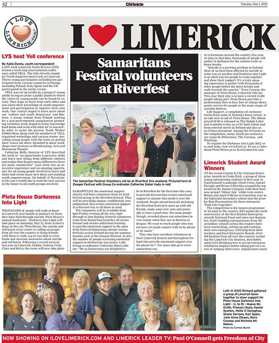 I Love Limerick Chronicle Column 1 May 2012 Page 1