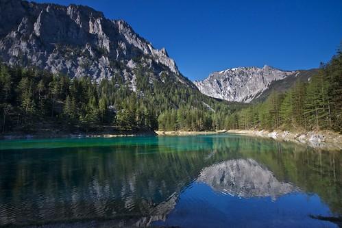 lake reflection nature landscape austria landschaft spiegelung österreich grünersee tragös