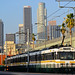 Expo Line and L.A. skyline