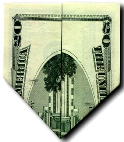 Banknote origami