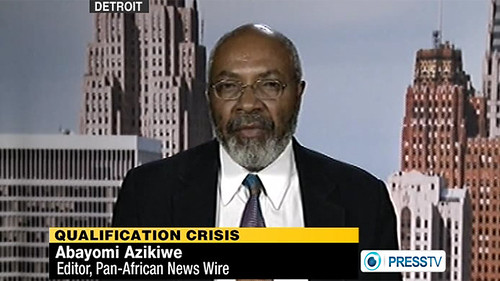 Abayomi Azikiwe, editor of the Pan-African News Wire, was featured on the Press TV News Analysis program to discuss the political situation in Egypt leading up to the national presidential elections. The program aired on April 28, 2012. by Pan-African News Wire File Photos