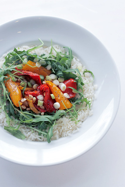 Rice, Peppers and Rocket