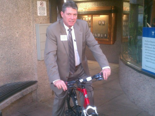Look at the sweet ride @FormanForTempe is sportin' at the #Tempe council chambers tonight! :)