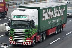 Scania R440 6x4 Tractor - PX12 NYM - Georgina Henrietta - Green & Red - 2012 - Eddie Stobart - M1 J10 Luton - Steven Gray - IMG_4567