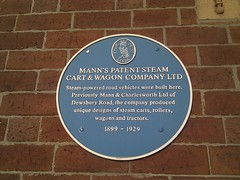 Photo of Mann's Patent Steam Cart & Wagon Company Ltd blue plaque