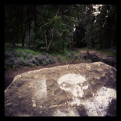 #martian in the #forrest #stencil #sprays #alien #eugene
