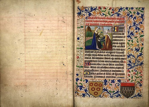 001-Misa de Santa Isabel--folio 1 -Heures d'Isabeau de Roubaix- Bibliothèque numérique de Roubaix  MS 6